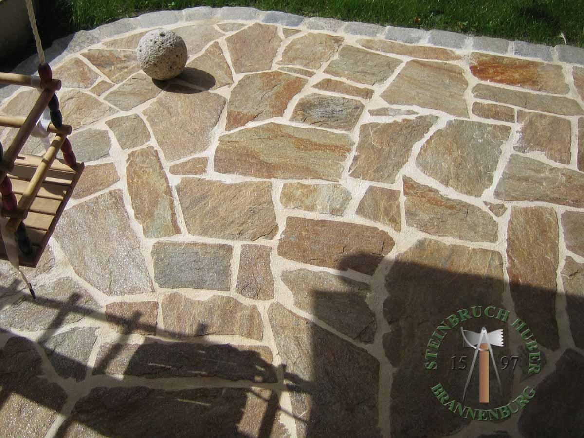 Bodenplatten - Gneis Polygonalplatten Amalfi P - Bpl-00031-02_01 - Steinbruch Huber