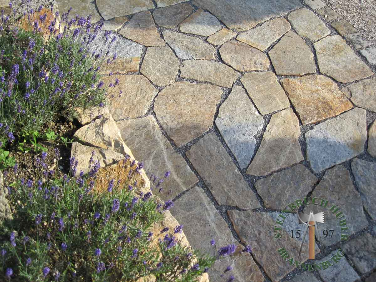 Bodenplatten - Gneis Trittplatten Amalfi P-XL - 03027-05_06 - Steinbruch Huber
