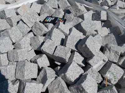 Kleinpflaster 8/11 - Granit Pflastersteine grau-hell - 00074_01T - Steinbruch Huber
