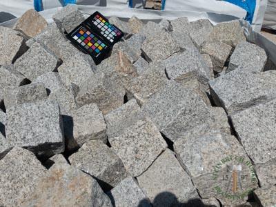 Kleinpflaster 8/11 - Granit Pflastersteine graugelb - 00076_01T - Steinbruch Huber