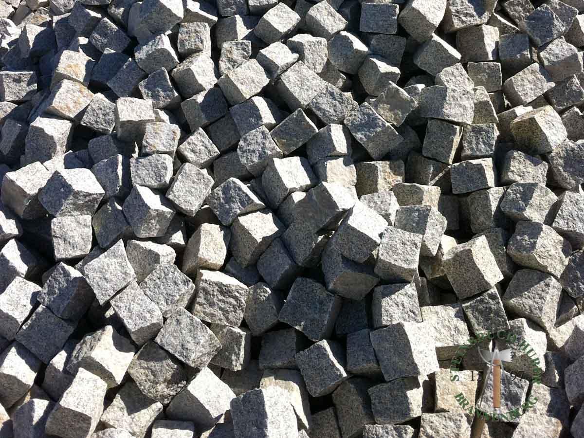 Kleinpflaster 8/11 - Granit Pflastersteine graugelb - 00076_03 - Steinbruch Huber