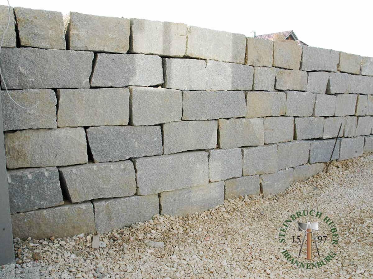 Mauersteine - Granit Mauerstein BayGranit R-50 - 00146_02 - Steinbruch Huber