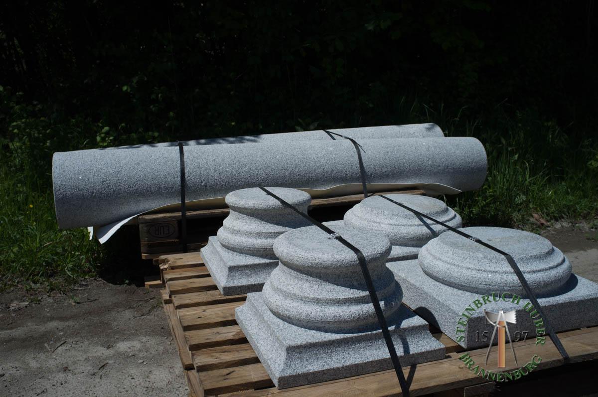 Pfeiler, Säulen - Granit Säulen - Saeu-02_04 - Steinbruch Huber