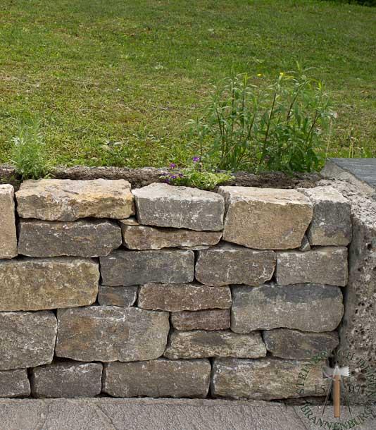 Mauersteine - Muschelkalk Mauerstein R - 00155-00_02 - Steinbruch Huber