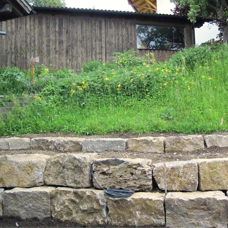 Mauersteine - Muschelkalk Mauerstein R - 00155-00_03 - Steinbruch Huber