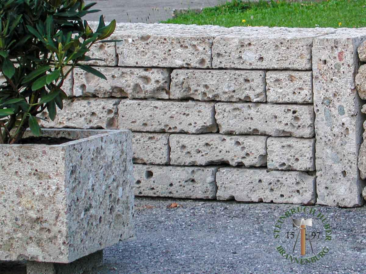 Mauersteine - Nagelfluh Mauersteine Biber S - 00030-S_08 - Steinbruch Huber