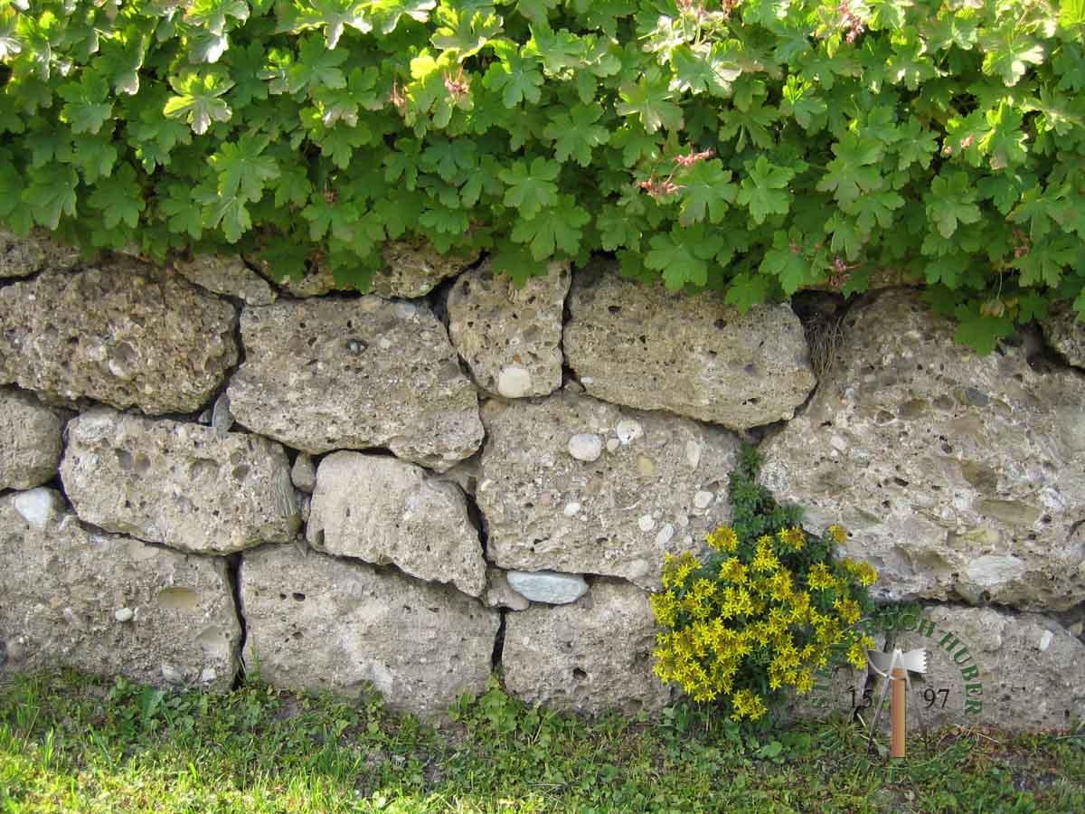 Mauersteine - Nagelfluh Mauersteine Petersberg - 00004_02 - Steinbruch Huber
