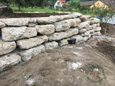 Mauersteine - Nagelfluh Mauersteine Petersberg XLF - 00009F_02T - Steinbruch Huber