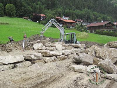 Mauersteine - Nagelfluh Mauersteine Petersberg XLF - 00009F_03T - Steinbruch Huber