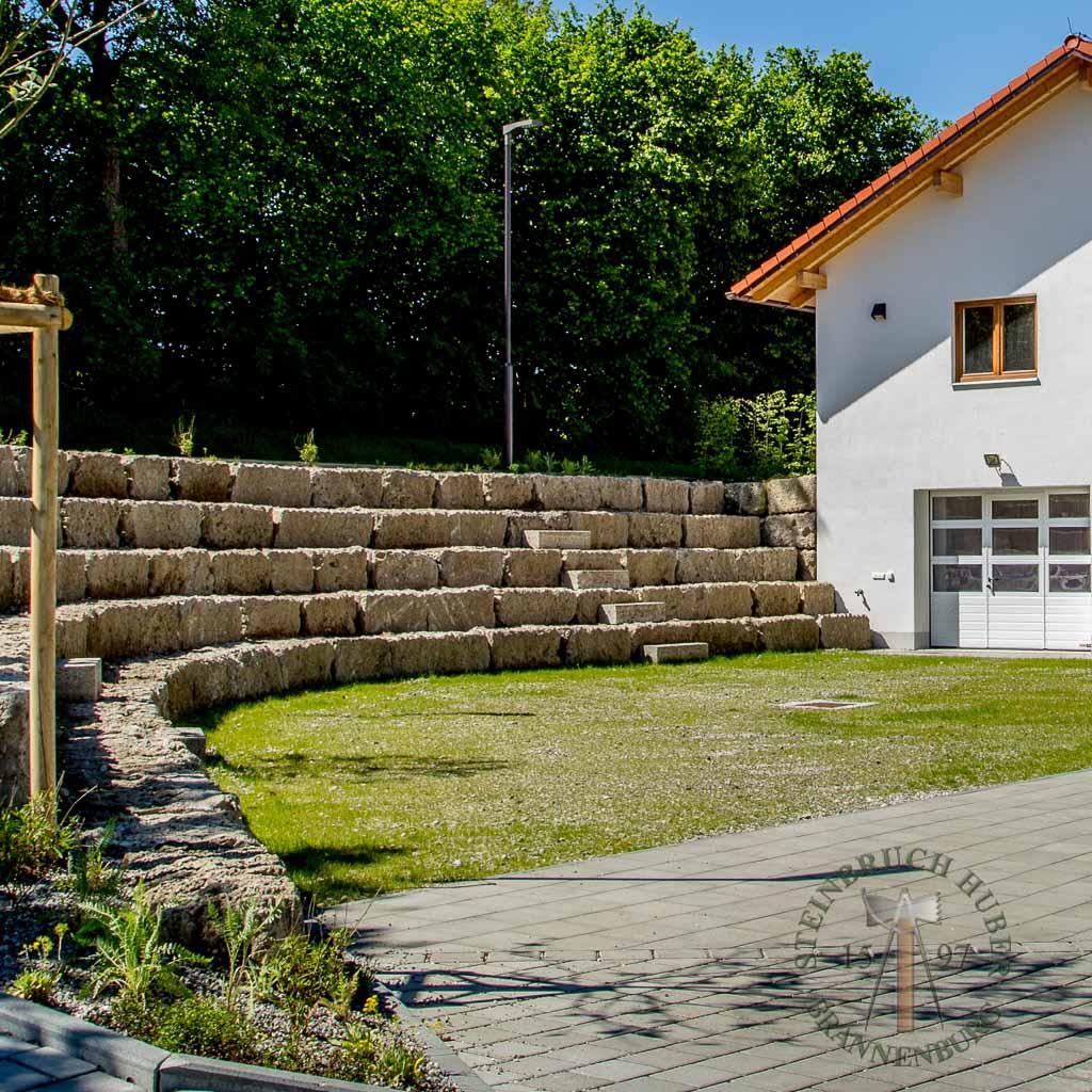 Mauersteine - Nagelfluh Mauersteine Riesenkopf - 00005_01 - Steinbruch Huber