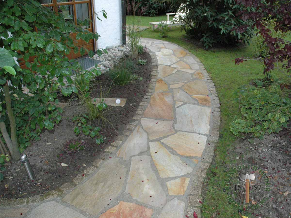 Bodenplatten - Quarzit Positano polygonal - 03030-03_01 - Steinbruch Huber