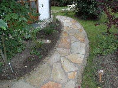 Bodenplatten - Quarzit Positano polygonal - 03030-03_01T - Steinbruch Huber