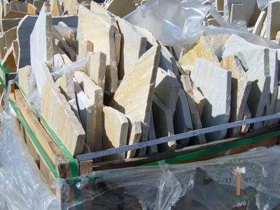 Bodenplatten - Quarzit Positano polygonal - 03030-03_02T - Steinbruch Huber