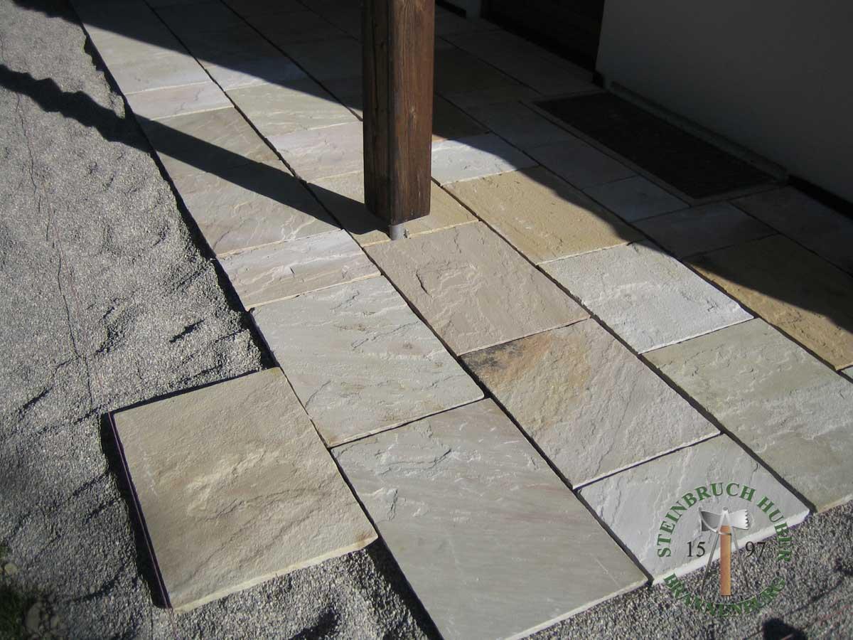 Bodenplatten - Sandstein Roma-Antiqua Bahnen - 03028-01_01 - Steinbruch Huber