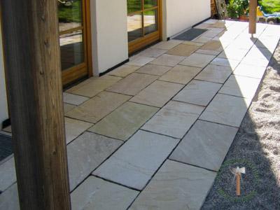 Bodenplatten - Sandstein Roma-Antiqua Bahnen - 03028-01_02T - Steinbruch Huber